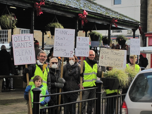 Otley Greens campaigning for clean air in the town